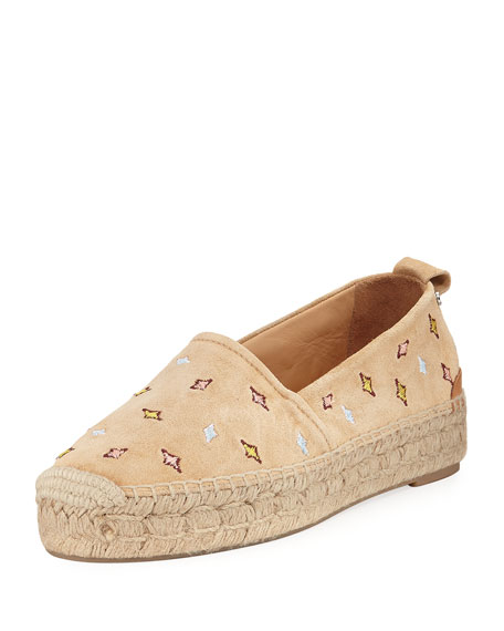 Rag & Bone Adria Embroidered Slip-On Espadrille Flat,