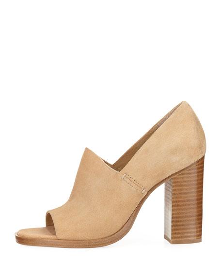 Myra Peep-Toe Slip-On Sandal, Camel