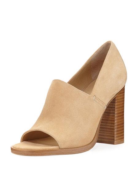 Rag & Bone Myra Peep-Toe Slip-On Sandal, Camel