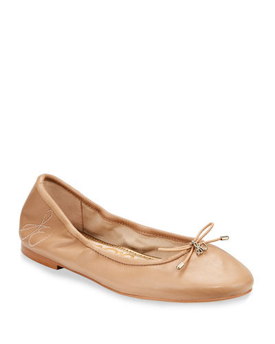 Felicia Embroidered Ballerina Flat