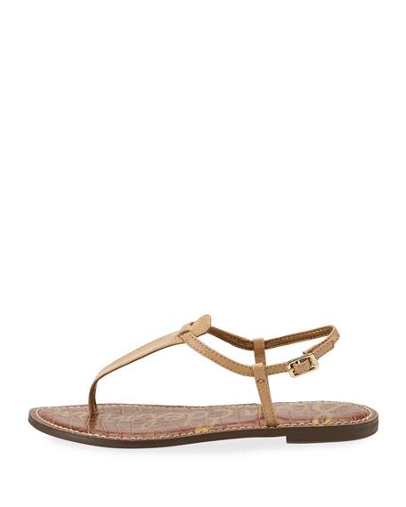Gigi Patent Leather Flat Thong Sandal