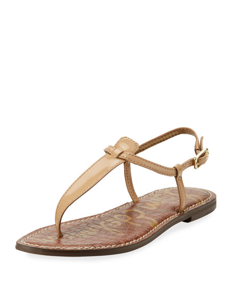 Sam Edelman Gigi Patent Leather Flat Thong Sandal