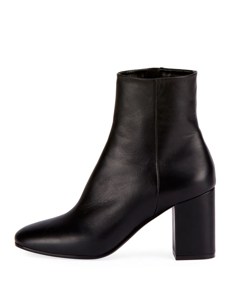 0dad72c8d97f Image 2 of 3  Balenciaga Leather Block-Heel Ankle Boots