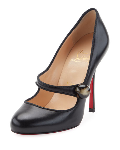 Christian Louboutin Booton Leather Red Sole 100mm Mary