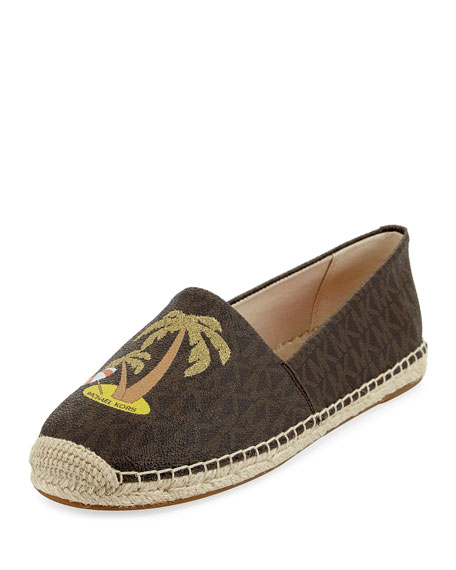 MICHAEL Michael Kors Kendrick Palm Tree Slip-On Espadrille,