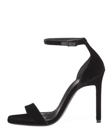 Amber Velvet Ankle-Strap 105mm Sandal