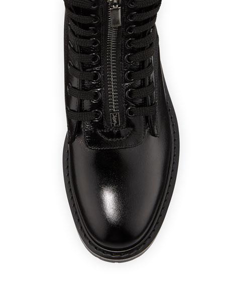 William Double-Laced Combat Boot, Black