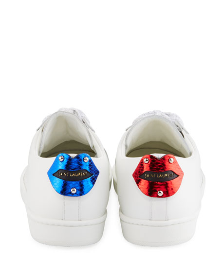 Court Classic Lips Leather Low-Top Sneakers