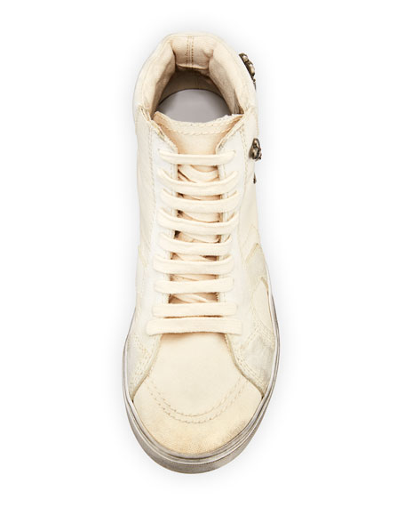 Antibe Distressed High-Top Sneakers