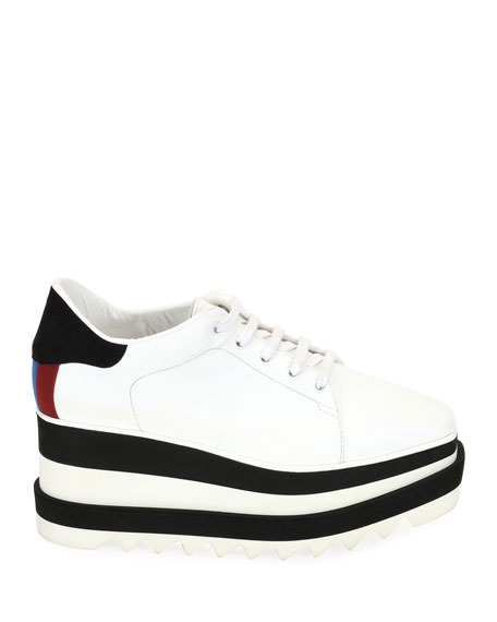 Lace-Up Striped-Platform Oxford