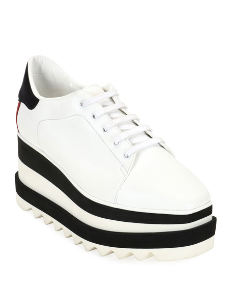 Elyse Platform Sneakers In White, White/Black