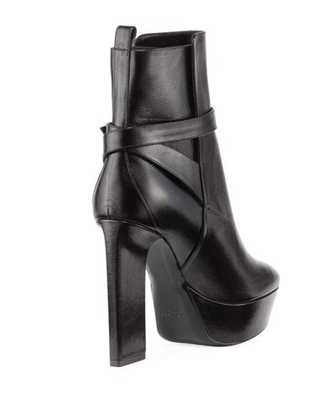 Vika Leather Platform Booties