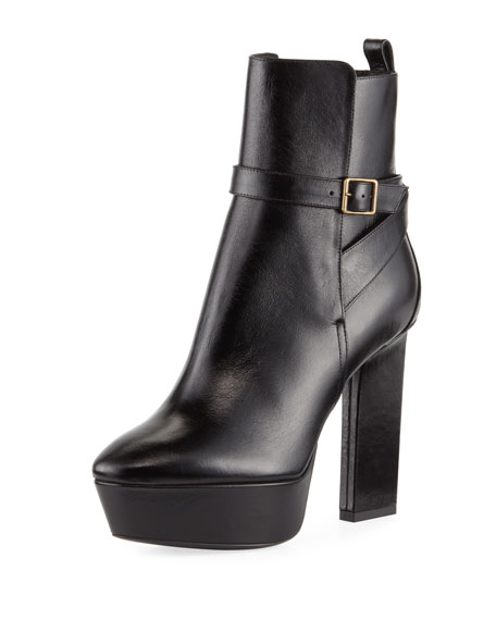 Vika Leather Platform Bootie