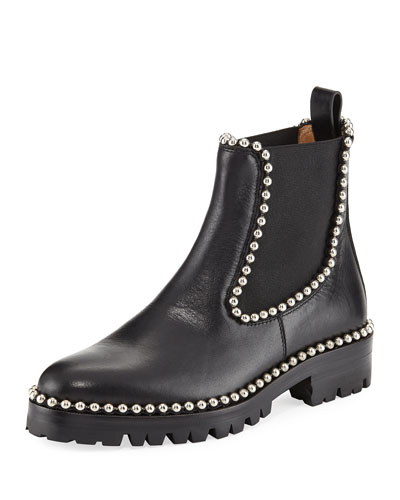 Spencer Studded Chelsea Boot, Black