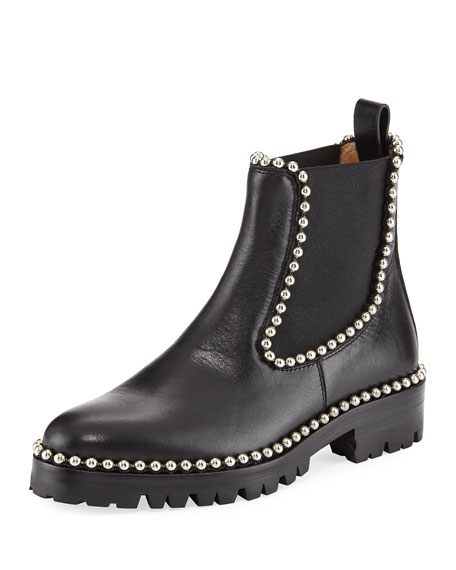 Alexander Wang Spencer Studded Chelsea Boot, Black
