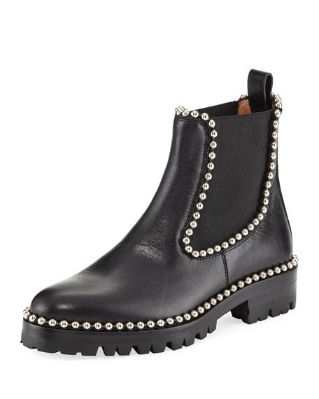 Spencer Studded Chelsea Boot, Black