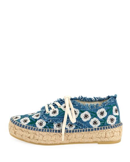 Alfie Floral Lace-Up Espadrille Sneaker