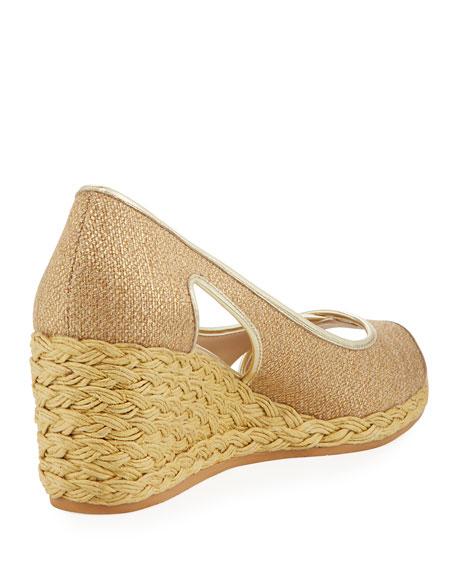 Coraa Metallic Wedge Espadrille Sandal, Gold