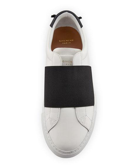 Urban Knots Elastic Slip-On Sneaker, White/Black