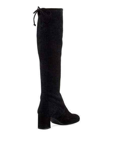 Stuart Weitzman Terra Knee-High Suede Boot, Black
