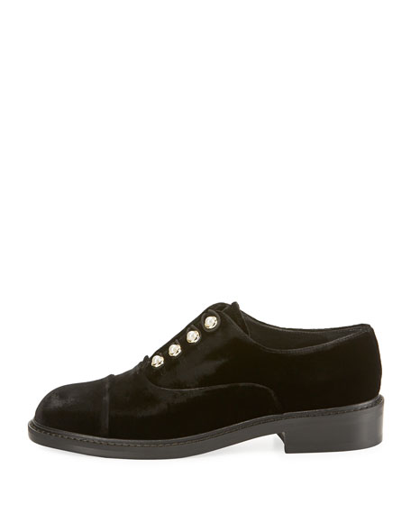 Mrs. Pats Pearlescent Velvet Oxford, Black