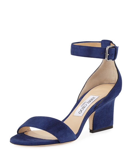 Edina Suede Sandals, Blue