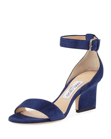 Jimmy Choo Edina Suede Sandal, Blue