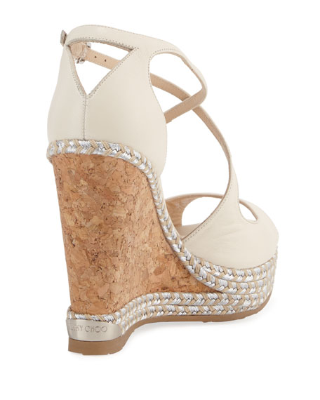 Dakota Wedge Espadrille Sandals, Off White