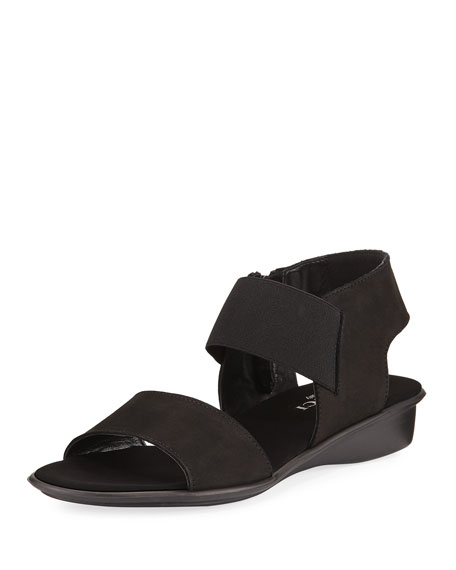 Sesto Meucci Elki Demi-Wedge Flat Sandals, Black