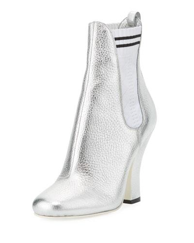 Marie Antoinette Metallic Sock Bootie