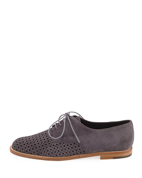 Paferi Perforated Suede Oxford