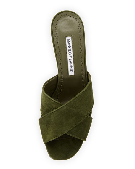 Otawi Crisscross Suede Slide Sandal