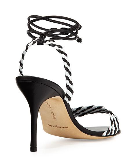 Amus Woven Leather 90mm Sandal