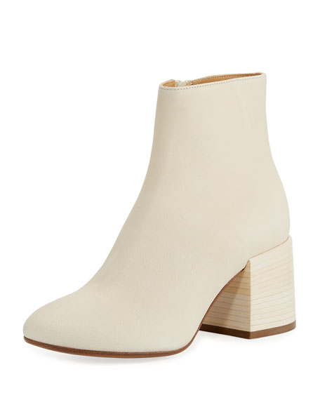 MM6 Maison Martin Margiela Smooth Leather Chunky Bootie,