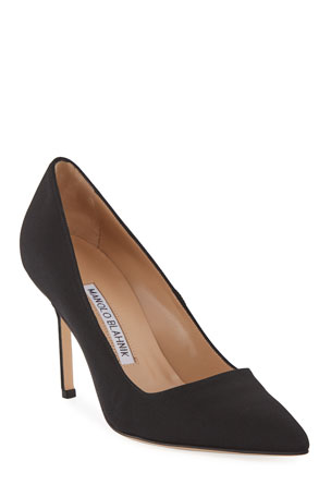 Manolo Blahnik BB Crepe 90mm Pumps, Black