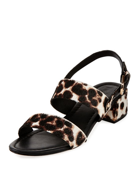Joie Rach Calf Hair City Sandal, Snow Leopard