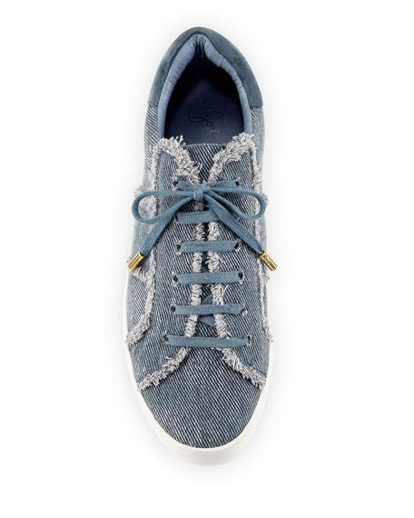 Dakota Frayed Denim Low-Top Sneakers