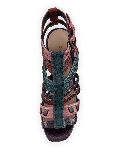Bindy Multi-Strap Stitched Sandal, Multicolor