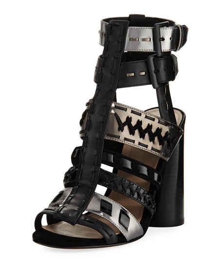 Donald J Pliner Bindy Multi-Strap Stitched Sandal, Black