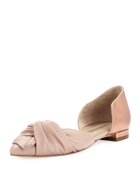 Donald J Pliner Pennie Ruched Leather d'Orsay Flat,