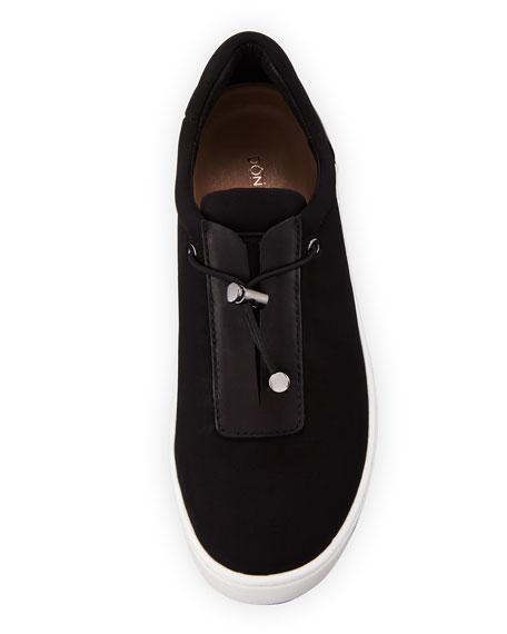 Camo Toggle Platform Sneaker, Black