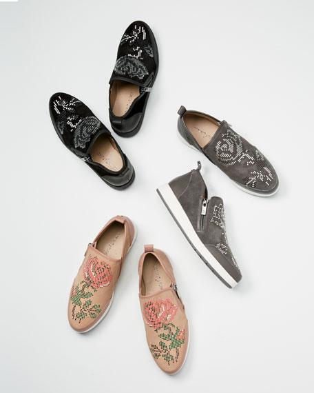 Myla Floral Stud Platform Sneakers