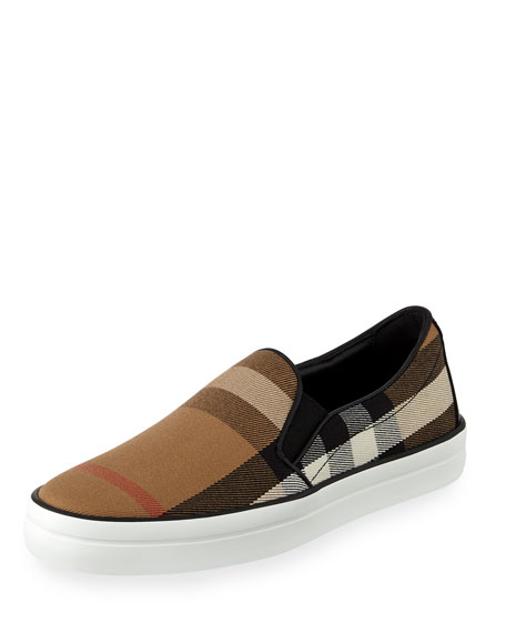 Burberry Gauden House Check Canvas Skate Sneaker