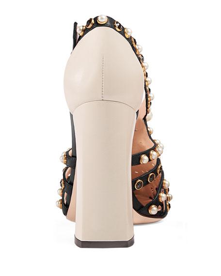 Tracey Studded Block-Heel Pump