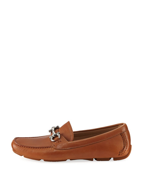 Parigi 1 Gancini Leather Loafer, Brown