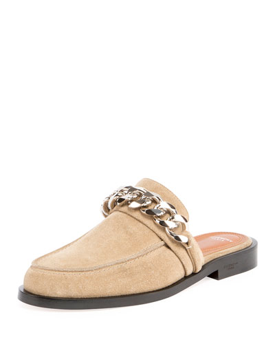 f6cdef6d734 Givenchy Suede Flat Mule Loafer