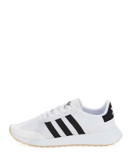 Flashback Mesh Lace-Up Sneaker, White