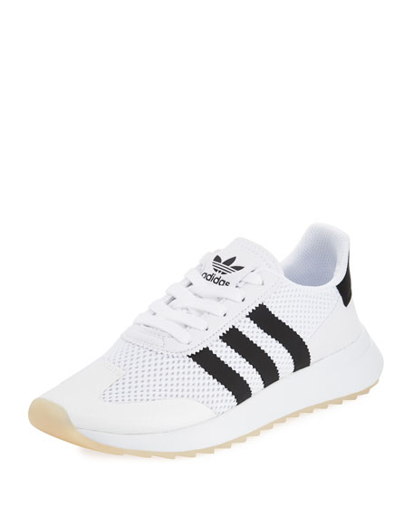 Adidas Flashback Mesh Lace-Up Sneaker, White