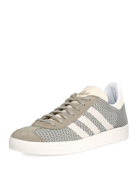 check out d245e d8bd9 Adidas Originals Gazelle Original Primeknit Sneaker, Gray In SesameOff  White