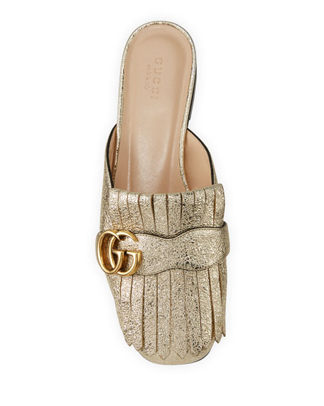 Marmont Metallic Mule Loafer, Gold